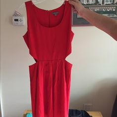 Red cutout dress Tinley  road great red dress with side cutouts. Zipper in back. Great dress! Never worn Tinley Road Dresses