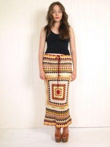 crochet granny square skirt dress