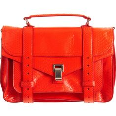 Proenza Schouler PS1 Medium Python ($3,645) ❤ liked on Polyvore