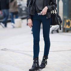0a014f861 Fancy - Tuxedo Stripe Skinny Jeans by Blank NYC Stockholm Street Style