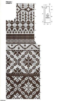 Easy Knitting Patterns for Beginners - How to Get Started Quickly? Knitting Stiches, Sweater Knitting Patterns, Knitting Charts, Knitting Designs, Knitting Projects, Fair Isle Chart, Fair Isle Pattern, Knitted Mittens Pattern, Norwegian Knitting
