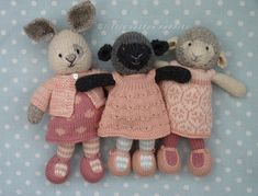 knitting like mad and living with autism in the family. Knitting patterns for toys and novelties, some free and some to buy. Knitted Stuffed Animals, Knitted Bunnies, Baby Stuffed Animals, Knitted Teddy Bear, Knitted Animals, Knitted Dolls, Bunny Rabbits, Knitted Baby, Crochet Birds