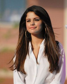 Selena Gomez Gold Hoops