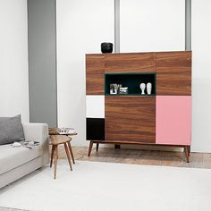Let's Dance Cupboard - Walnut/Pink - by BOA SAFRA #MONOQI