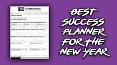 Best Daily Business Planner For 2017: https://www.youtube.com/watch?v=H1CoaQaeq4M  Subscribe On YouTube: http://BlissAndBusiness.com/YouTube