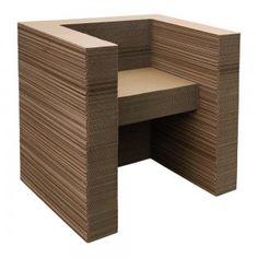 1000 id es sur le th me fauteuil en carton sur pinterest meuble en carton carton et meuble carton. Black Bedroom Furniture Sets. Home Design Ideas
