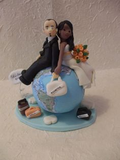 Long distance relationship wedding cake! It's almost perfect for me