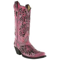Corral Women's Sequin Inlay Snip Toe Western Boots