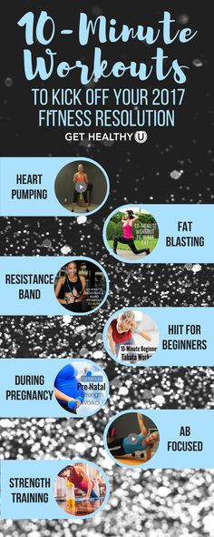 If you want to start your New Year out strong, check out these 7 fat burning, muscle sculpting, heart pumping workouts! Between HIIT Workouts and Ab Crushing exercises, these workouts are sure to have you at your fittest in 2017!