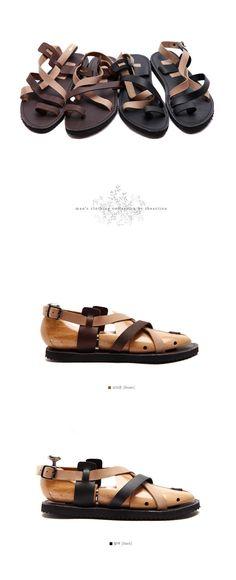 South Korea Shopping 2013 summer fashion personality Korean fashion handsome British men leather sandals tide