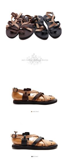 South Korea Shopping 2013 summer fashion personality Korean fashion handsome British men leather sandals tide