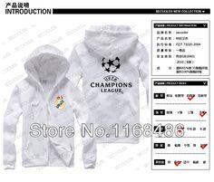 2014 nuevos Promociones Caballos del Real Madrid en el vellón cremallera  chaqueta suéter Liga de Campeones C Luo Kaká para hombres y mujeres en  Camisetas de ... 164471b2cd20e