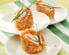 Bouchées de saumon aux graines de sésame