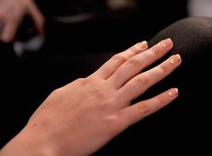 Gold 'n Blank Space Nails   14 Unexpected Manis to Rock This Holiday Season