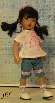 "Handmade outfit for 7.5"" Riley Kish doll by jdldollclothes.com"