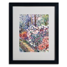 Flowers In the Forest by Manor Shadian Matted Framed Painting Print