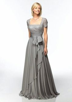 Silver Gray Dresses For The Mother