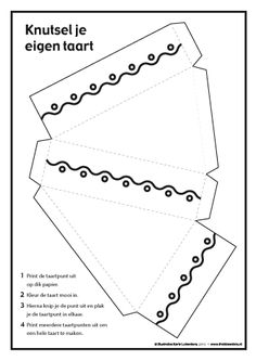 Make your own cake - Frokkie & Lola Paper Box Template, Paper Cutting Templates, Card Templates, Box Packaging Templates, Diy For Kids, Crafts For Kids, Kindergarten Themes, Make School, Box Patterns
