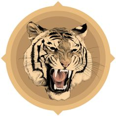 The Wallery : Four Tigers by Chamo San, via Behance