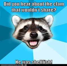 Did you hear about the clam that wouldn't share?  He was shellfish!