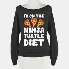 I'm On The Ninja Turtle Diet Sweater