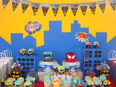 Spiderman and Batman Birthday Party Ideas | Photo 1 of 20 | Catch My Party
