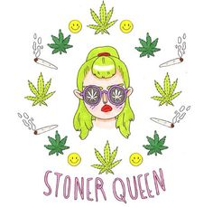 stoner queen Print by GemmaFlack on Etsy Marijuana Art, Medical Marijuana, Cannabis Oil, Marijuana Funny, Weed Art, Stoner Art, Geniale Tattoos, 420 Girls, Puff And Pass