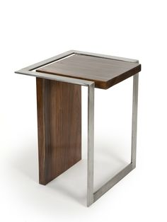 BETTER LATE THAN NEVER- by Axel Yberg.  Cool side table in walnut and steel
