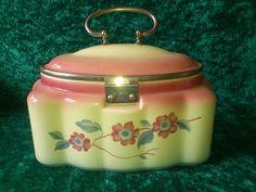 Art Deco Spritzdekor Keramik Deckeldose Keksdose Metallmontur TOP ZZ ges.gesch. | eBay