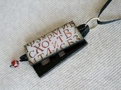 Beautiful pendant inspired by the Russian Sherlock Holmes series.