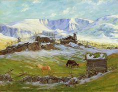Gustav Wentzel Morning sun over the mountain-Vaga Edvard Munch, Lund, Landscape Paintings, Landscapes, Nordic Lights, Ludwig, Morning Sun, Traditional Art, Painters