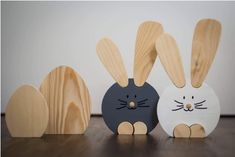 Wooden Animals, Wooden Toys, Decor Crafts, Diy And Crafts, Funny Home Decor, Towel Embroidery, Spring Crafts For Kids, Woodworking For Kids, Easter Crafts
