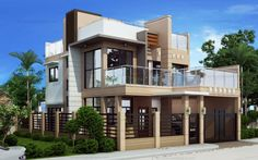 Carmelo Model is a single attached Two Story House Plan with a total floor area 2 Storey House Design, Small House Design, Cool House Designs, The Plan, Modern House Plans, Small House Plans, Style At Home, Double Storey House Plans, Bungalow Haus Design