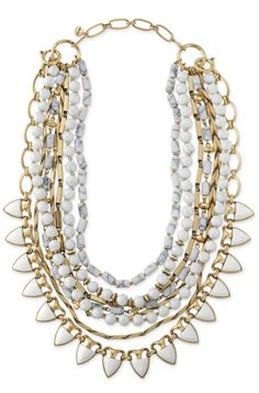 Did you know Stella Dot's Sutton Necklace in White Stone can be worn 5 ways?