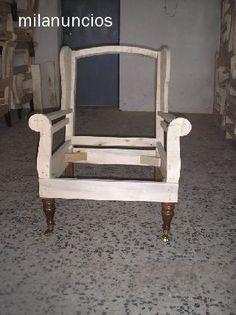 Estructura de sillón orejero. No parece muy difícil de hacer.