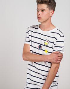 camiseta rayas con bolsillo