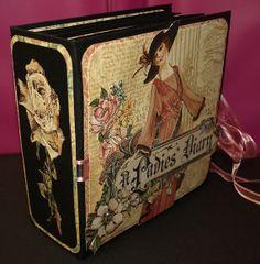 Ladies Diary Graphic 45  Mini Album  Handmade by PacificJunction, $30.00