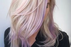 blonde and pastel purple hair - Google Search                                                                                                                                                     More