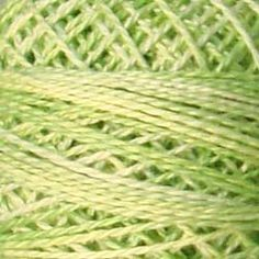 Valdani Pearl Cotton O 543 Lime Sherbet- will be featured in my upcoming OOAK couture tatting designs.