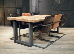 Industriele tafel Montreuil - ROBUUSTE TAFELS! Direct uit voorraad of geheel op maat >>