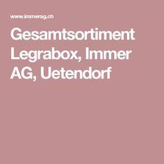 Gesamtsortiment Legrabox, Immer AG, Uetendorf