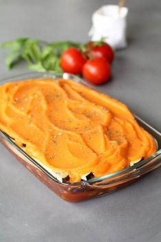 Vegan lasagna from eggplant with sweet potato sauce - Beaufood - Vegan eggplant with sweet potato sauce, Vegan main courses, Vegan dinner, Vegan recipes, Healthy la - Easy Healthy Recipes, Raw Food Recipes, Veggie Recipes, Vegetarian Recipes, Vegan Challenge, Food Crush, Vegan Dinners, Going Vegan, Food Dishes