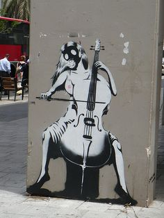 always love banksy :) Tel Aviv - #Banksy #cello