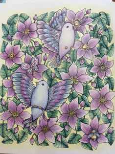 Twilight garden Maria trolle Colouring Pages, Coloring Books, Coloring Tutorial, Prismacolor, Bird Feathers, Adult Coloring, Color Combos, Colored Pencils, Color Inspiration