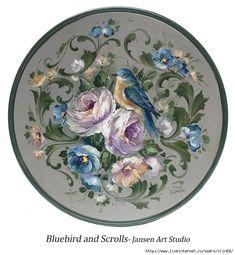 51 Bluebird and Scrolls (645x700, 305Kb)