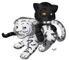 A chibi drawing of my two favorite tiger brothers: Ren and Kishan, from Tiger Saga. Ren And Kishan Funny Animal Pictures, Cute Pictures, Tiger Love, Gothic Art, Book Characters, Mythical Creatures, Book Nerd, Spirit Animal, Cat Art