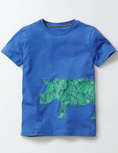 Patchwork Animal T-Shirt Skipper Blue 4-5 $26.10