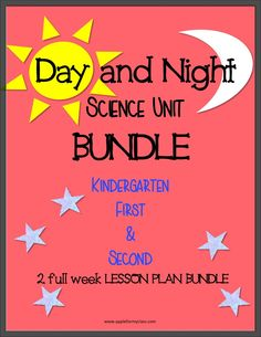 This bundle has Day/Night units week 1 and 2 combined. It has hands on activities which are great for science or literature units. It includes 2 full weeks of lesson plans.
