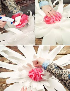 How to make extra Large flowers and mount them for a wedding or event.