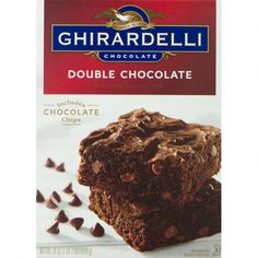 Indulge in the richly decadent chocolate taste that you expect from Ghirardelli. Our Double Chocolate brownie is crafted with Ghirardelli chocolate chips and cocoa for an ultra rich, moist and chewy treat. Chocolate Pizza, Decadent Chocolate, Best Chocolate, Chocolate Chips, Best Brownie Mix, Best Brownies, Shakeo Mug Cake, Ghirardelli Brownie Mix, Salted Caramel Brownies